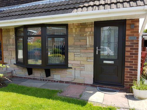 Charcoal Black Windows And Door